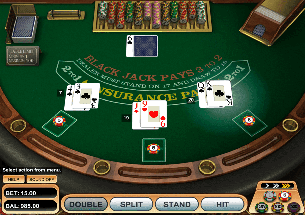 Single Desk BlackJack
