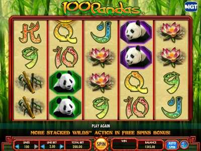 arabian slotsx.com 100 pandas slot